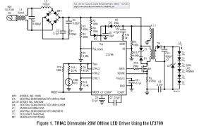 simple high power triac dimmable led driver super circuit diagram