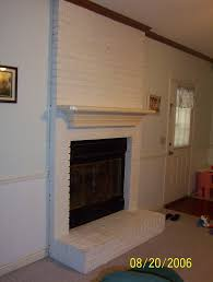 put tile over painted brick fireplace ideas