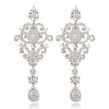ingenious silver chandelier earrings with micro pave filigree design
