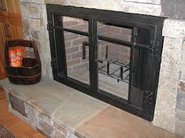 fireplace doors black. furniture: fireplace glass doors and blower unfinished door with black stainless steel brick s