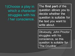 sample essay the crucible ppt video online  3 1 choose