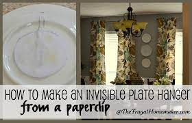 hanging plates on the wall with diy
