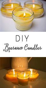 diy beeswax candles