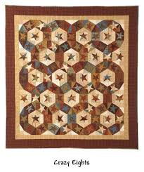 Crazy Eights quilt pattern from the Crazy Fun N Games book by ... & Crazy Eights quilt pattern from the Crazy Fun N Games book by Buggy Barn Adamdwight.com