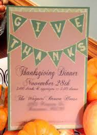 Diy Thanksgiving Invitations For Thanksgiving Dinner Use Pink And