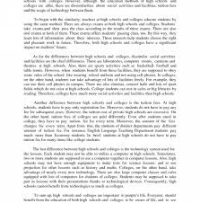 Compare And Contrast Essay Sample College Simple Essays For High School Students How To Write A Thesis