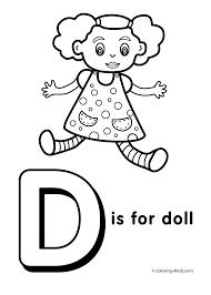 Small Picture Letter D coloring page alphabet coloring pages alphabet
