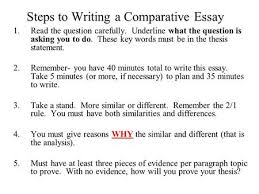 analyze group comparative essay ppt video online  steps to writing a comparative essay 1 the question carefully underline what the