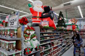 Customers shop at Walmart during the holiday season.