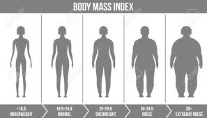 Bmi Underweight Overweight Chart Creative Vector Illustration Of Bmi Body Mass Index Infographic