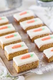 Carrot Cake Bars With Cream Cheese Frosting Lovely Little Kitchen