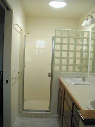 Glass For Bathroom Glass Block Shower Partial Wall Could Substitute Shower Curtain