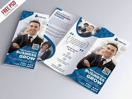 Free Download Brochure Corporate Tri Fold Brochure Psd Template Free Download