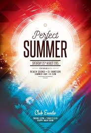 poster psd perfect summer flyer template download psd file 6 party poster
