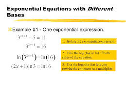 6 exponential equations