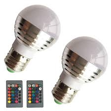 Changing Halogen Flood Light Bulbs Eleidgs 2 Pcs Xq001 3w Decorative Bulbs Rgb Led Magic Light