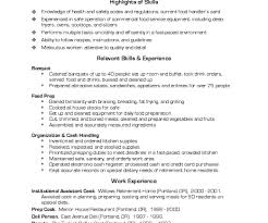 Excellent Cook Resume Pdf Photos Entry Level Resume Templates