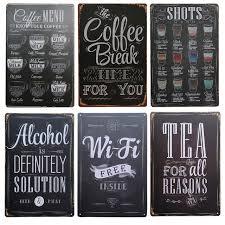 Small Picture Aliexpresscom Buy Shots Menu Cafe Bar Pub Wall Decor Metal Sign