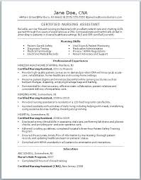 Cna Resume Samples With No Experience Best Resume No Experience Cna