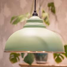 harborne pendant light in sage green