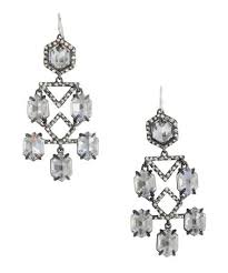 alexis bittar gumetal and crystal chandelier earring bluefly up to 70 off designer brands