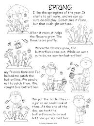 Spring Reading Comprehension Reading Materials For Kindergarten ...