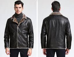 men winter quality vintage retro style biker jacket