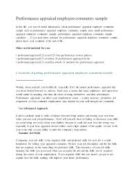 Performance Reviews Samples Appraisal Cover Letter Performance Appraisal Cover Letter Sample