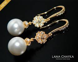 white pearl gold bridal earrings swarovski 10mm pearl chandelier earrings bridal bridesmaids pearl jewelry prom pearl earrings weddings 33 50 usd
