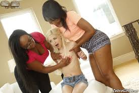 Nasty interracial threesome action 4