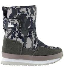 Rubber Duck Winter Boots Snow Joggers Grey Camo