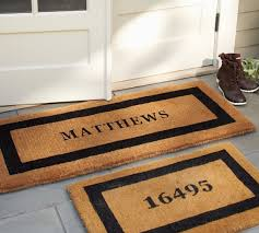 personalized front door matsPersonalized Doormat  Pottery Barn