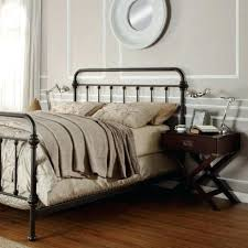 Cast Iron Bed Frames Queen Rod Iron Bed Frame White Metal Bed Frame ...