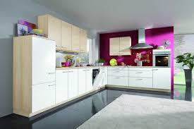 tantalizing modern kitchen design layout using purple grey wall