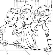 Alvin En De Chipmunks Kleurplaat Jouwkleurplaten