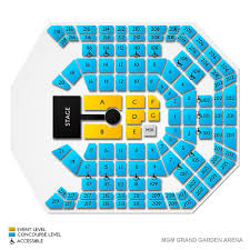 Mgm Grand Garden Arena Concert Tickets And Seating View