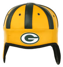 packers faux leather helmet