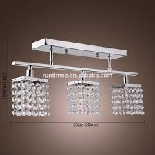 Flush Ceiling Light Fixtures Modern Crystal Linear Chandelier With 3 Lights Modern Flush Mount Ceiling Light Fixture Solid Metal Fixture With Crystal Beads Rt9491 Buy Crystal Linear