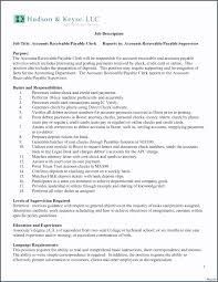Accounts Payable And Receivable Resume New Accounts Payable And