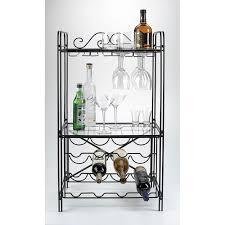 ... Black Metal Wine Glass Storage Floor Wine Rack Overstock Floor Wine Rack  ...