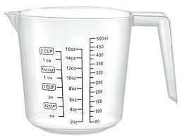 Measuring Cup Sizes Cooking Size Chart Measurement 2 Measure