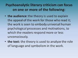 Psychological Psychoanalytic Criticism Ppt Video Online Download