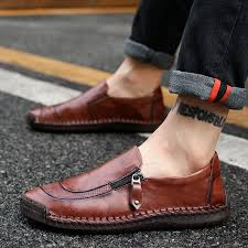 <b>Peas shoes men's autumn</b> new leather fashion casual shoes ...