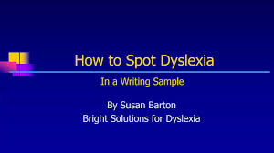 How to Spot Dyslexia in a Writing Sample on Vimeo
