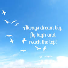 Dream To Fly Quotes Best Of Always Dream Big Fly High And Reach The Top