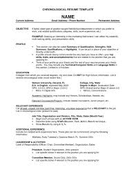 Samples Of Chronological Resumes Enchanting Template Chronological Resumes Templates A Reverse R Resume