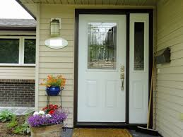 single entry doors with glass. Naples Glass Insert By Masonite White Coloured Single Entry Door With One Sidelite Doors E