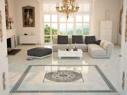 Living room tile / floor / porcelain stoneware / high-gloss - TAURUS