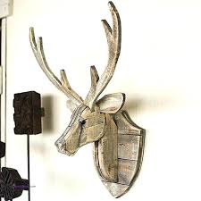 stag heads wall decoration stag head decor wooden stag head wall decoration best of recycled wooden deer head wall mount stag head wall decor white stags