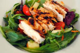 grilled chicken salad. Plain Salad On Grilled Chicken Salad H